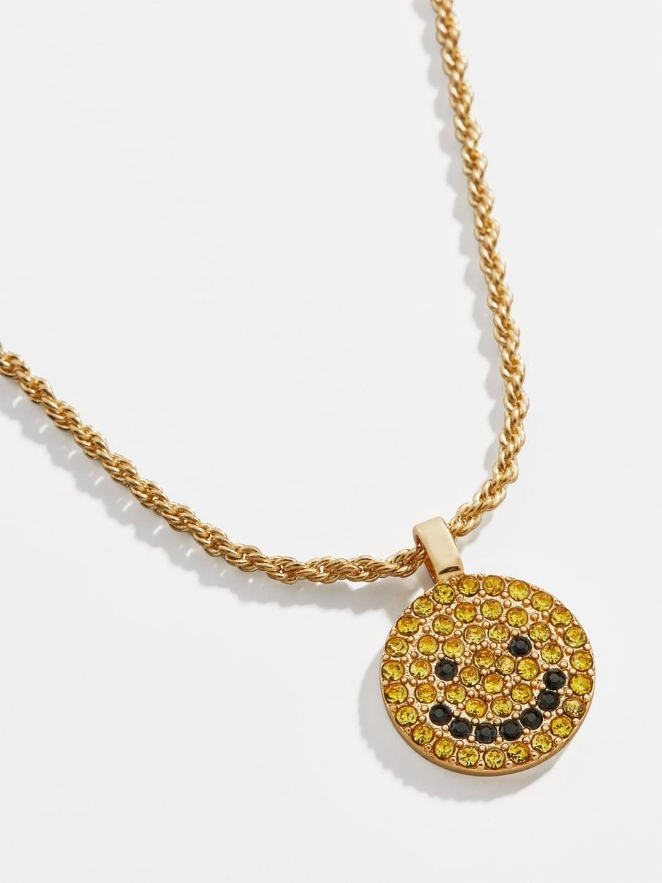 "<p><a href=""https://www.popsugar.com/buy/Smiley-Pav%C3%A9-Pendant-Necklace-570439?p_name=Smiley%20Pav%C3%A9%20Pendant%20Necklace&retailer=baublebar.com&pid=570439&price=16&evar1=fab%3Aus&evar9=47437458&evar98=https%3A%2F%2Fwww.popsugar.com%2Fphoto-gallery%2F47437458%2Fimage%2F47440758%2FSmiley-Pav%C3%A9-Pendant-Necklace&list1=shopping%2Cjewelry%2Caccessories%2Cbaublebar%2Cspring%20fashion%2Csale%20shopping%2Cfashion%20shopping&prop13=api&pdata=1"" class=""link rapid-noclick-resp"" rel=""nofollow noopener"" target=""_blank"" data-ylk=""slk:Smiley Pavé Pendant Necklace"">Smiley Pavé Pendant Necklace</a> ($16, originally $36)</p>"