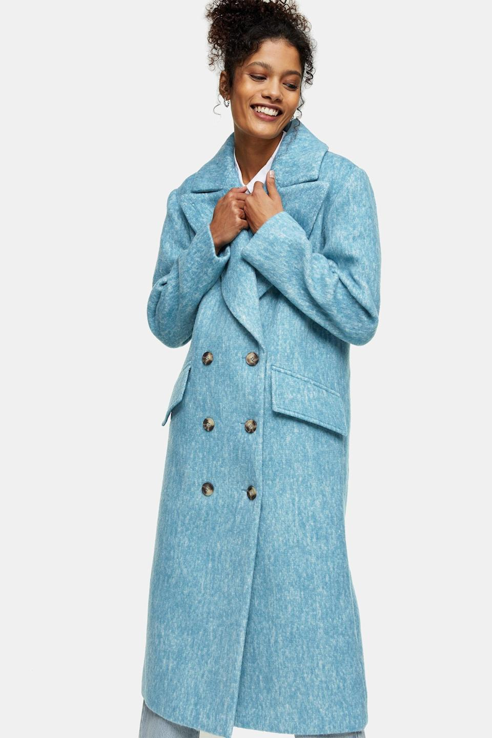 <p>After the inauguration, I'm totally hooked on statement outerwear. This <span>Topshop Blue Structured Coat</span> ($160) will be my next investment.</p>
