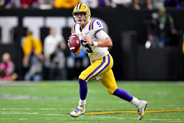 LSU's Joe Burrow might be the pick with news that the Cincinnati Bengals don't plan to trade the top pick in the 2020 NFL draft. (Photo by Alika Jenner/Getty Images)