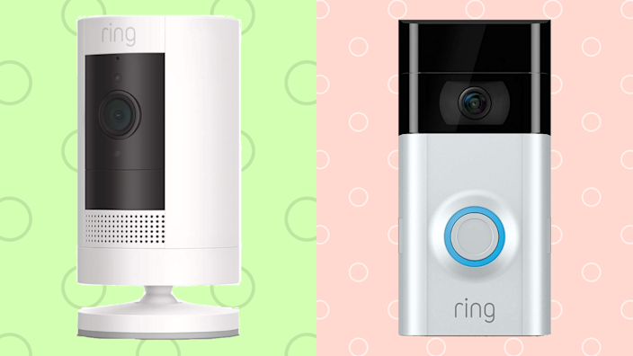 Peekaboo, I see you. Smart-home security devices from Ring keep a watchful eye on your home. (Photo: Amazon)