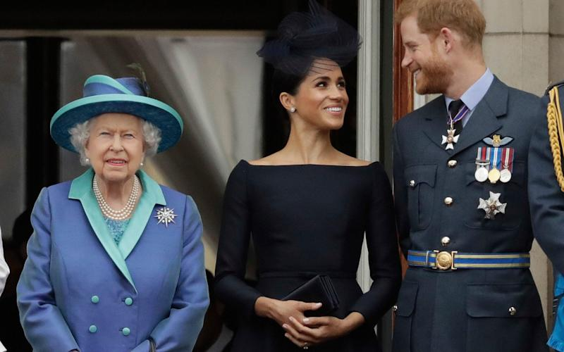 The Queen is thought to have given the Duke and Duchess of Sussex a clear instruction to delay publishing their statement - AP