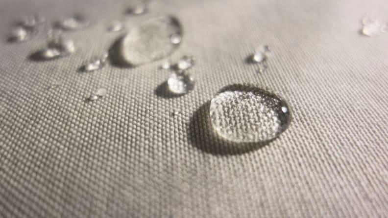 Performance fabric is common in outdoor furniture.