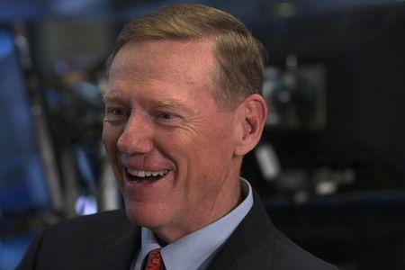 Ford Motor Co. President and CEO Mulally speaks during an interview with CNBC on the floor of the New York Stock Exchange