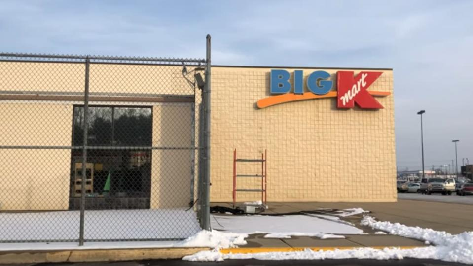 a photo of the exterior of a now missing Big Kmart