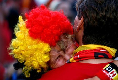 Soccer Football - World Cup - Semi-Final - France v Belgium - Brussels, Belgium - July 10, 2018. Belgium fan reacts after the match in the fan zone. REUTERS/Darrin Zammit Lupi     TPX IMAGES OF THE DAY