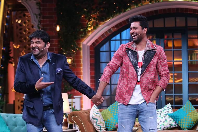 vicky kaushal on the sets of the kapil sharma show