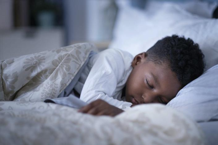 A 6-year-old needs 9-12 hours of sleep a day.