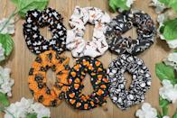 """<p>Tie your hair up with these fun <span>Halloween Scrunchies</span> ($4). It's a small yet statement-making way to sport a little bit of <a class=""""link rapid-noclick-resp"""" href=""""https://www.popsugar.com/Halloween"""" rel=""""nofollow noopener"""" target=""""_blank"""" data-ylk=""""slk:Halloween"""">Halloween</a> spirit. </p>"""