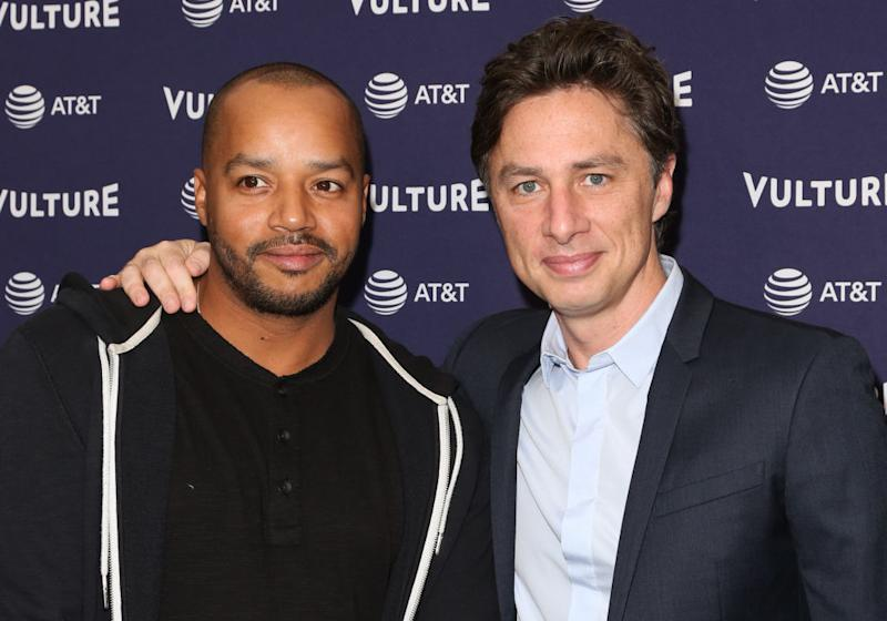 """Scrubs"" co-stars Donald Faison and Zach Braff have been real-life friends for years. (Paul Archuleta/Getty Images)"