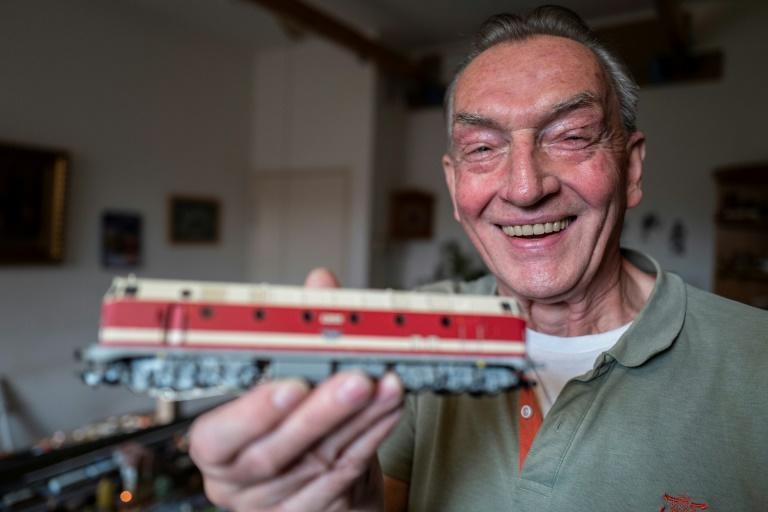 Model train enthusiast Gerhard Berndt has stuck with the hobby all through his adult life