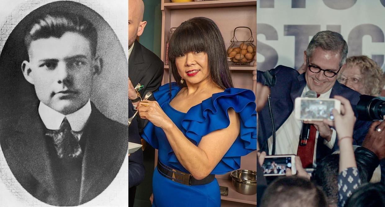 Hemingway, Bake Off: The Professionals and Philly DA: Breaking the Law airs tonight. (Photo by Hulton Archive/Getty Images. Channel 4. BBC)