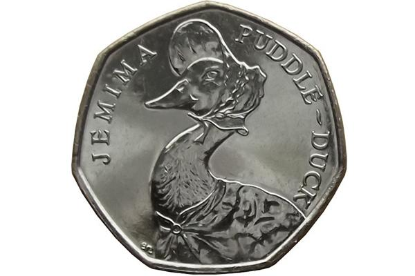 Jemima Puddle Duck 50p (Image: Check Your Change)