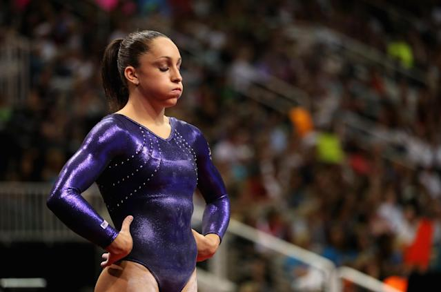 SAN JOSE, CA - JULY 01: Jordyn Wieber gets ready to compete on the beam during day 4 of the 2012 U.S. Olympic Gymnastics Team Trials at HP Pavilion on July 1, 2012 in San Jose, California. (Photo by Ezra Shaw/Getty Images)