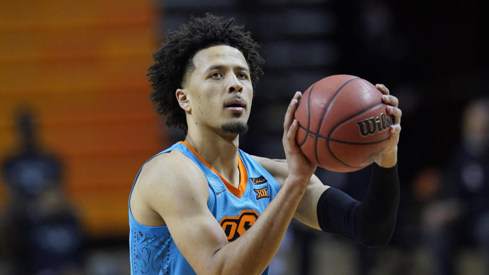 So far, Cade Cunningham has checked off every goal he's set for himself in his basketball career. (AP Photo/Sue Ogrocki)