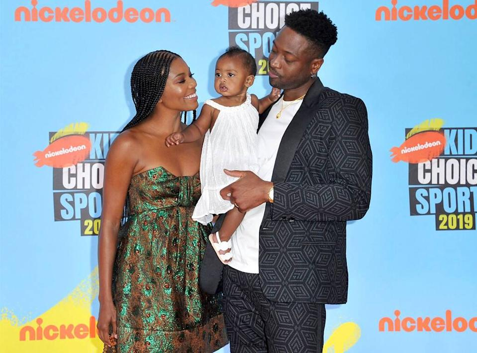 Gabrielle Union, Kaavia James Union Wade, Dwyane Wade, Kids' Choice Sports 2019