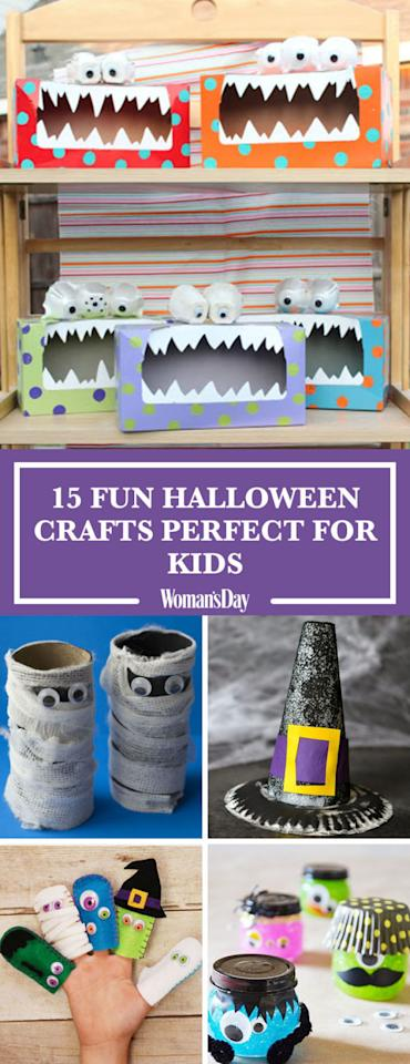 20 fun halloween crafts perfect for kids for Craft ideas for women