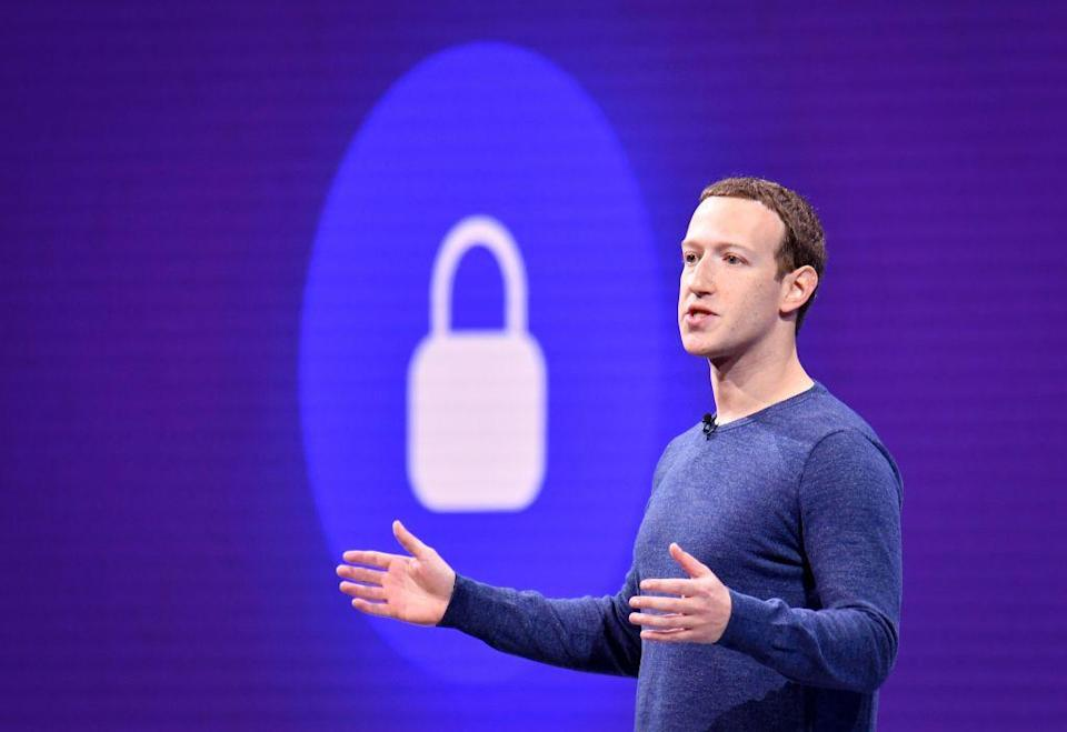 Facebook CEO Mark Zuckerberg at annual F8 summit at the San Jose McEnery Convention Center in San Jose, California on May 1, 2018. Source: JOSH EDELSON/AFP/Getty Images