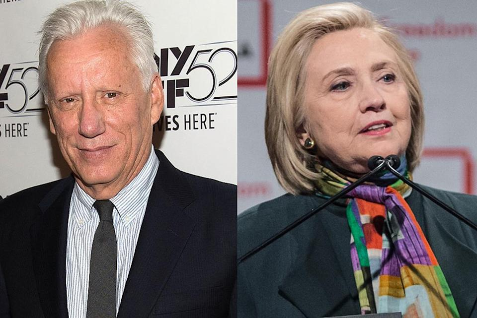 James Woods and Hillary Clinton. (Photo: Getty Images)