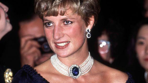 PHOTO: Diana, Princess of Wales, visits the National Arts Centre in Ottawa, October 1991. She is wearing a pearl and sapphire choker. (Jayne Fincher/Princess Diana Archive/Getty Images)