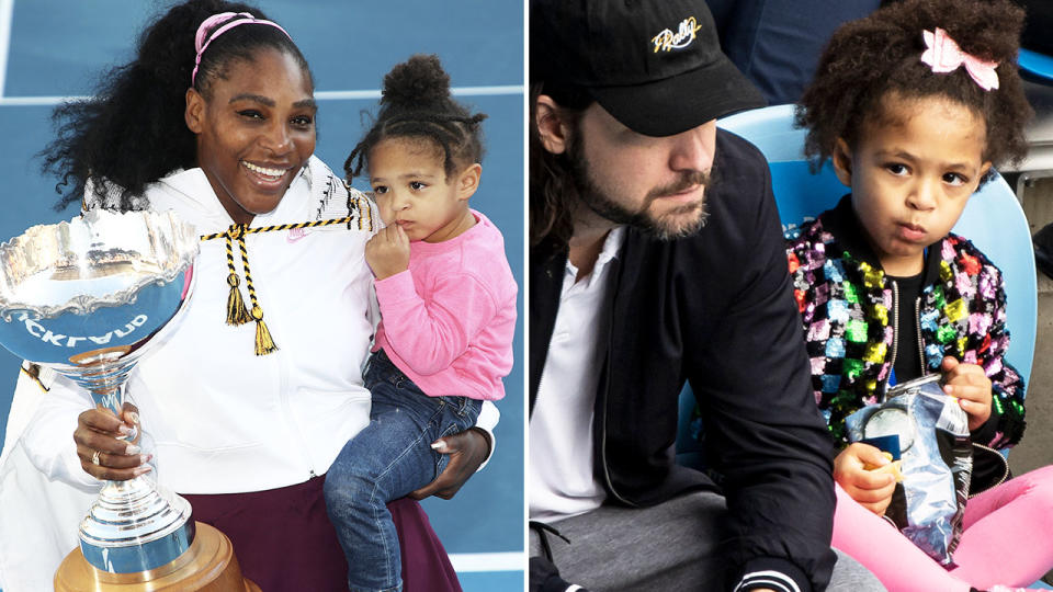 Serena Williams, pictured here with daughter Alexis Olympia.