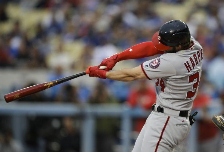 Bryce Harper did something we usually see in fictional films. (AP Photo)