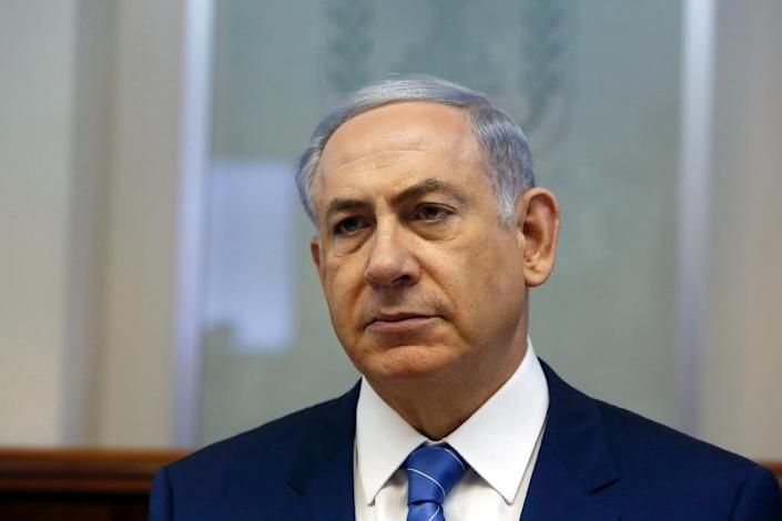"""Prime Minister Benjamin Netanyahu has pledged to tackle the problem of Jewish extremist attacks and labelled the firebombing """"terrorism"""" -- a word usually used by Israelis to refer to violence by Palestinians (AFP Photo/Gali Tibbon)"""