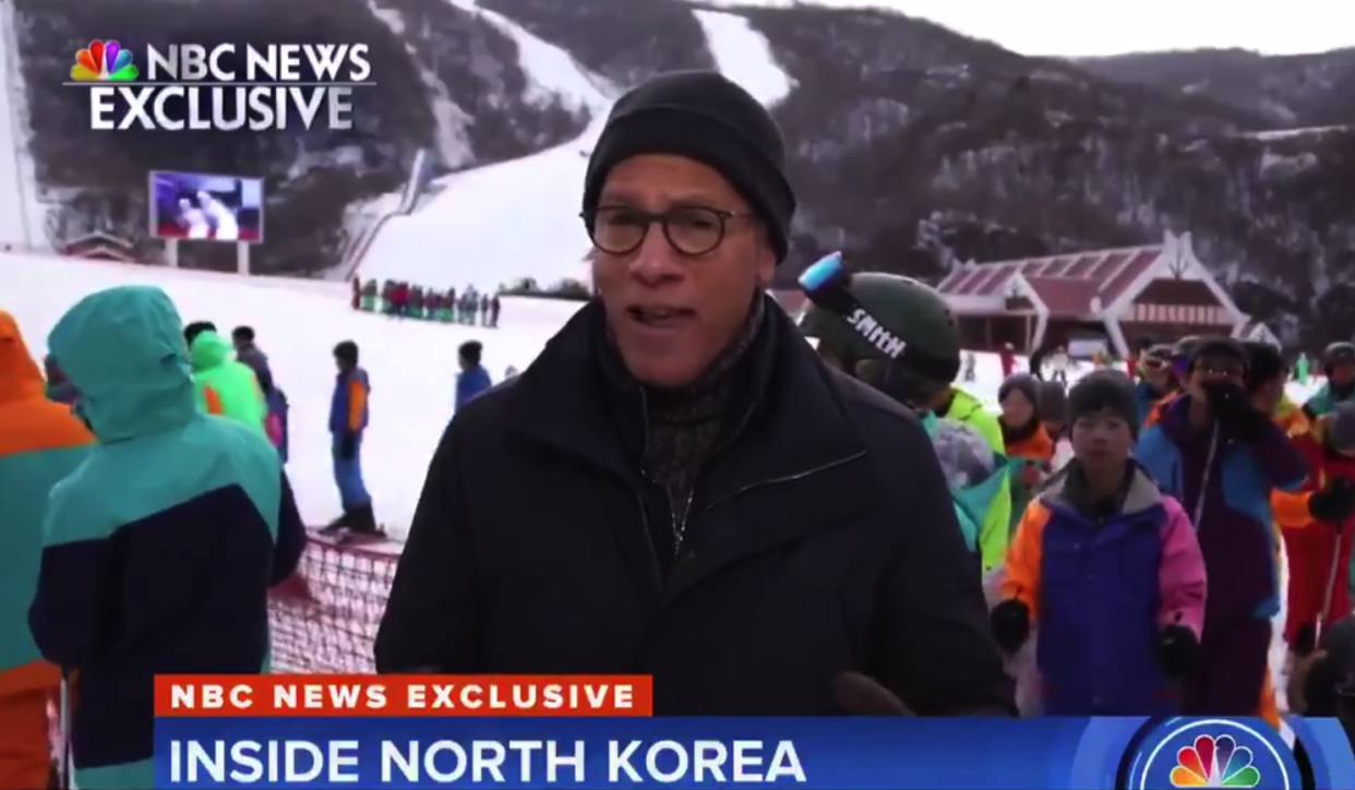 Lester Holt filmed the report in North Korea (NBC)