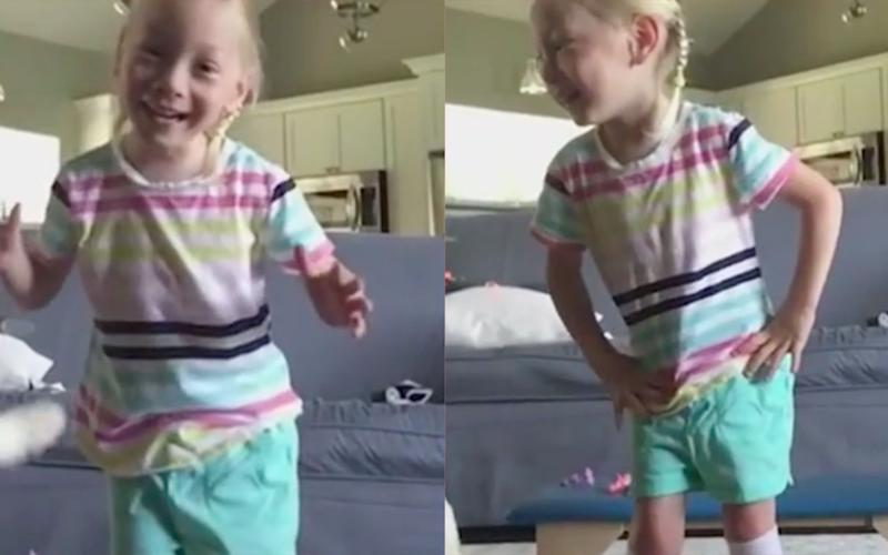 'I'm walking': Heartwarming moment girl, 4, with cerebral palsy takes first steps