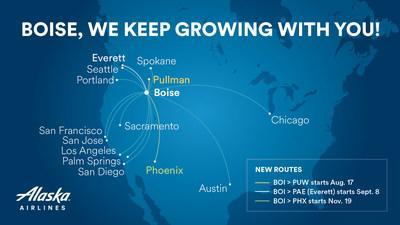 This winter, Alaska Airlines will have up to 30 daily nonstop departures from Boise to 14 destinations.