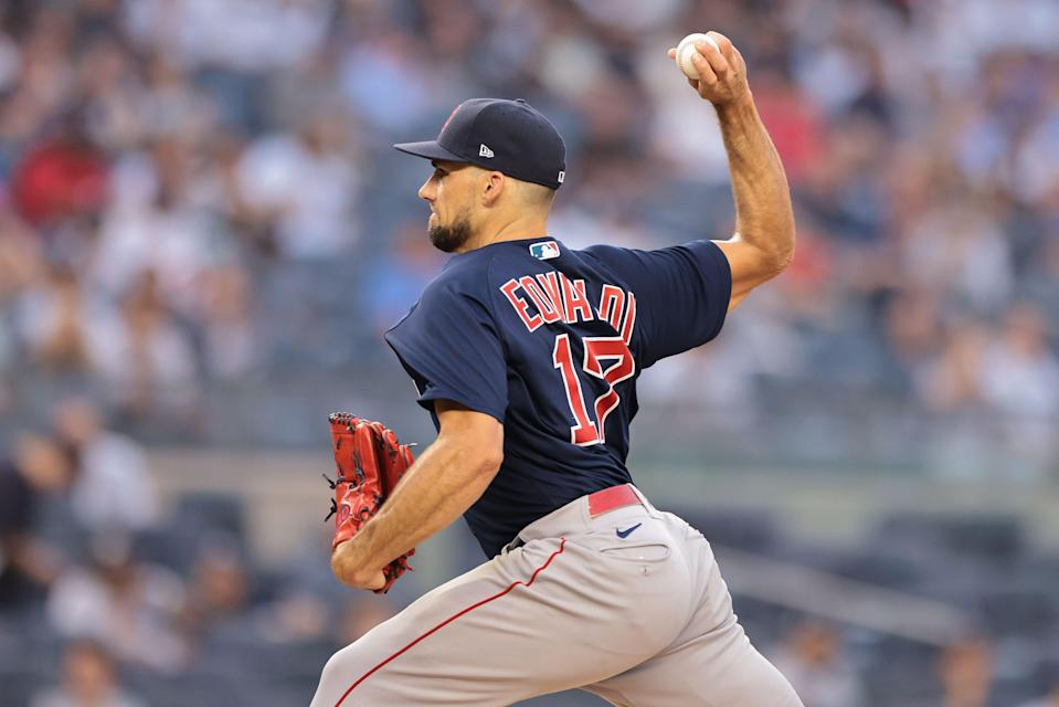 Boston's Nathan Eovaldi had been scheduled to start Sunday's game before it was postponed by Tropical Storm Henri.