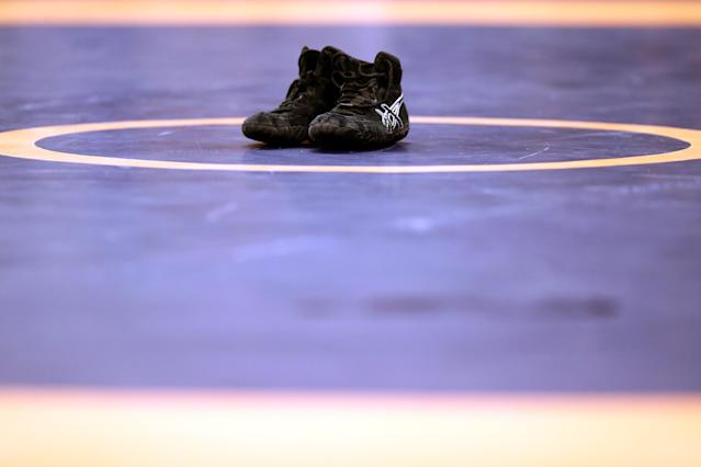 Jay Spencer is legally blind, but it hasn't stopped him from wrestling — or bringing home the first state wrestling title in the school's history. (Getty Images)