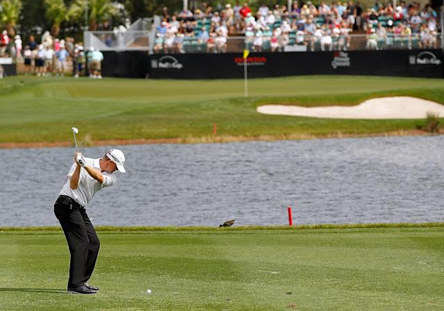 PALM BEACH GARDENS, FL - MARCH 02: Tom Gillis hits his approach on the 16th hole during the second round of the Honda Classic at PGA National on March 2, 2012 in Palm Beach Gardens, Florida. (Photo by Mike Ehrmann/Getty Images)