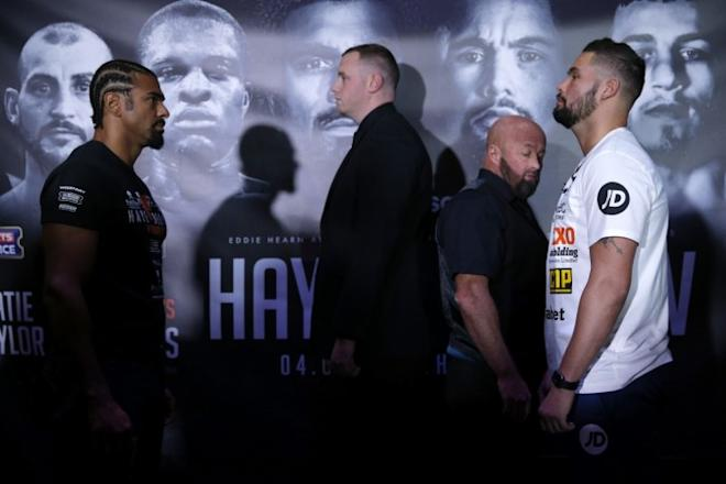 David Haye and Tony Bellew, boxing