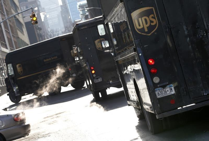 Ups Delivery Trucks Are Seen In New York City