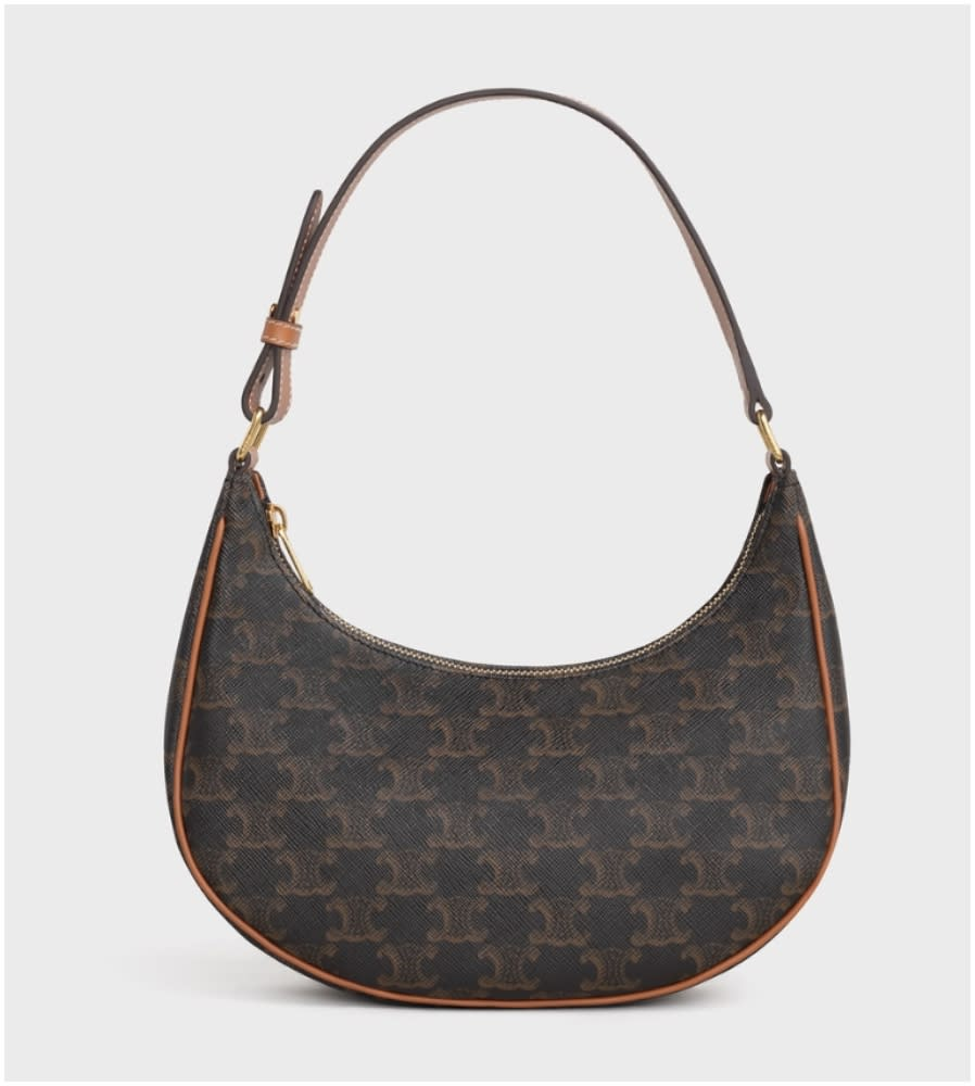 AVA BAG IN TRIOMPHE CANVAS AND CALFSKIN TAN