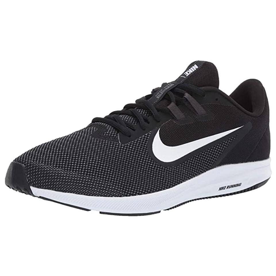 """<p><strong>Nike</strong></p><p>amazon.com</p><p><strong>48.00</strong></p><p><a href=""""https://www.amazon.com/dp/B07H7YW1VC?tag=syn-yahoo-20&ascsubtag=%5Bartid%7C2139.g.36608417%5Bsrc%7Cyahoo-us"""" rel=""""nofollow noopener"""" target=""""_blank"""" data-ylk=""""slk:BUY IT HERE"""" class=""""link rapid-noclick-resp"""">BUY IT HERE</a></p><p>Take it from the 6,000+ 5-star reviews: You can't go wrong with these ultra comfortable, <a href=""""https://www.menshealth.com/fitness/g19556347/best-running-shoes-for-men/"""" rel=""""nofollow noopener"""" target=""""_blank"""" data-ylk=""""slk:super supportive running shoes"""" class=""""link rapid-noclick-resp"""">super supportive running shoes</a>. Nike's Downshifter has a lightweight mesh upper (read: perfect for your warm-weather workouts) and a flexible full-length midsole that offers great cushioning so you'll always be comfy. </p>"""
