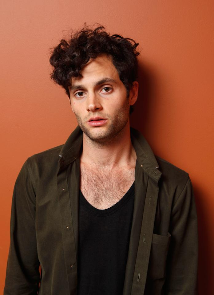 """TORONTO, ON - SEPTEMBER 10:  Actor Penn Badgley of """"Greetings From Tim Buckley"""" poses at the Guess Portrait Studio during 2012 Toronto International Film Festival on September 10, 2012 in Toronto, Canada.  (Photo by Matt Carr/Getty Images)"""