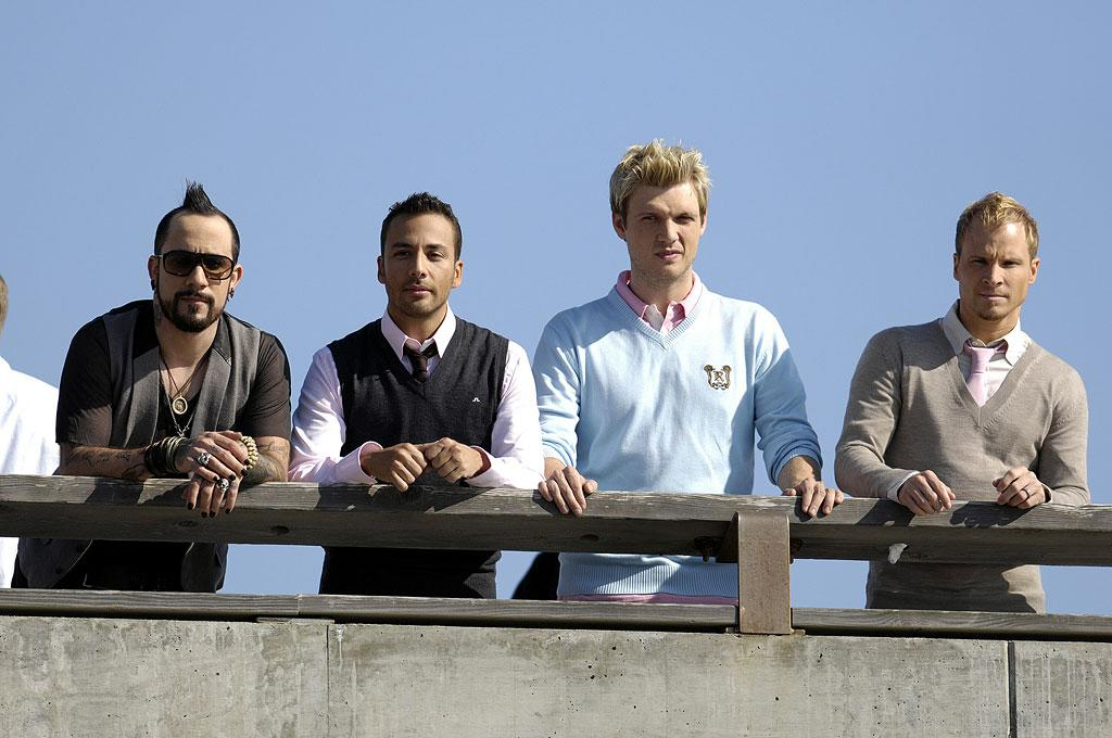 "Jay-Z may be red hot, but are the Backstreet Boys? AJ McLean, Howie Dorough, Nick Carter, and Brian Littrell hope a new album will resurrect their careers and pocketbooks. Backstreet's back, alright! Toby Canham/<a href=""http://www.splashnewsonline.com/"" target=""new"">Splash News</a> - August 16, 2007"