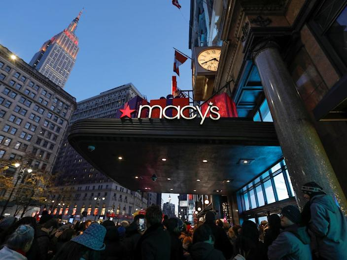 "A Macy's store in New York City. <p class=""copyright"">REUTERS/Andrew Kelly</p>"