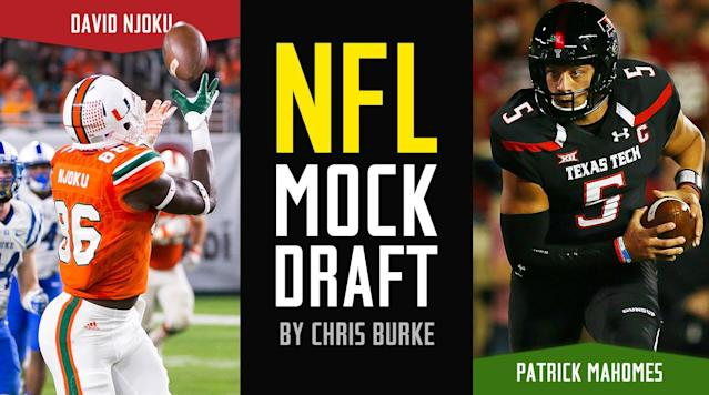 This is approximately our 107th mock of the draft season, so it's only appropriate that we swing back into the three-round format and cover picks 1 through 107.