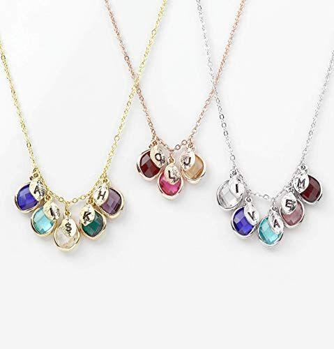 """<p><strong>MignonandMignon</strong></p><p>amazon.com</p><p><strong>$17.50</strong></p><p><a href=""""https://www.amazon.com/dp/B07QZWXSFF?tag=syn-yahoo-20&ascsubtag=%5Bartid%7C10055.g.29003353%5Bsrc%7Cyahoo-us"""" rel=""""nofollow noopener"""" target=""""_blank"""" data-ylk=""""slk:Shop Now"""" class=""""link rapid-noclick-resp"""">Shop Now</a></p><p>As a symbol of her growing family, gift her this family tree-inspired necklace, complete with up to five birthstones and corresponding initials — one per kid or grandkid. </p>"""