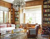 "<p>Set between 18th-century brass wire-front bookcases, the desk in this <a href=""https://www.veranda.com/home-decorators/a30735967/peter-dunham-california-house-tour/"" rel=""nofollow noopener"" target=""_blank"" data-ylk=""slk:Peter Dunham-designed"" class=""link rapid-noclick-resp"">Peter Dunham-designed</a> library features chic letter sorters and pencil to help keep the space organized and promote productivity. The sofa fabric is by <a href=""https://www.kravet.com/"" rel=""nofollow noopener"" target=""_blank"" data-ylk=""slk:Kravet"" class=""link rapid-noclick-resp"">Kravet</a>.<br></p>"