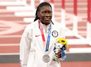 """<p>Biography: 34 years old</p> <p>Event: Women's long jump</p> <p>Quote: """"It's a great feeling. I had a great career. I had a great journey. I'm just blessed. I've been in this sport for 13 years, and to finish my career with a silver I can't complain.""""</p>"""