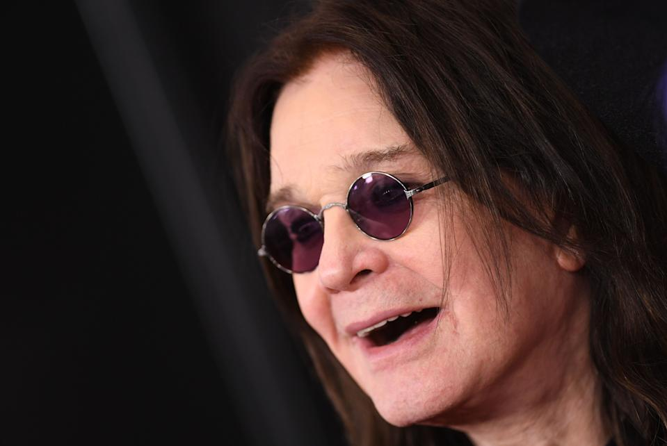 British singer-songwriter Ozzy Osbourne arrives for the 62nd Annual Grammy Awards on January 26, 2020, in Los Angeles. (Photo by VALERIE MACON / AFP) (Photo by VALERIE MACON/AFP via Getty Images)