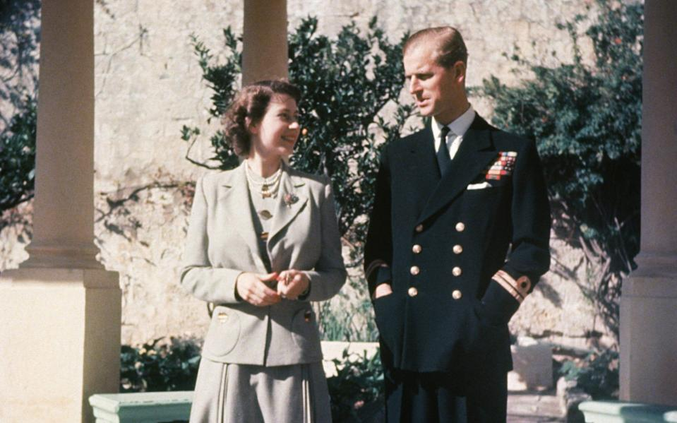 The Queen and Prince Philip on their honeymoon in Malta - HULTON ARCHIVE/Hulton Archive