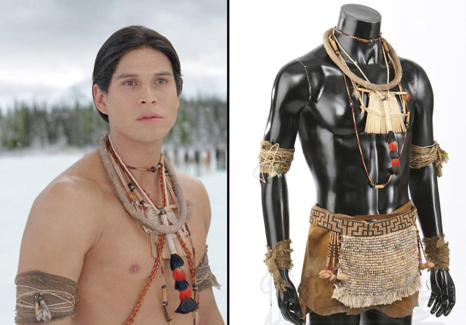 <p>The vampire-human wore this costume in 'Breaking Dawn – Part 2.' (Photo: Prop Store/Summit) </p>