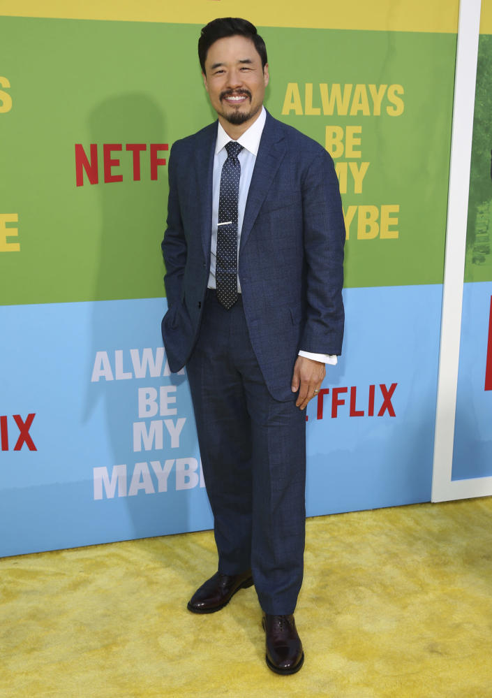 """FILE - Randall Park arrives at the premiere of """"Always Be My Maybe"""" on May 22, 2019, in Los Angeles. Park turns 47 on March 23. (Photo by Mark Von Holden/Invision/AP, File)"""