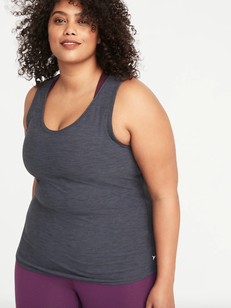 Breathe ON Plus-Size Mesh-Back Tank.