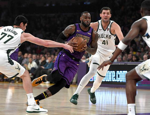 LeBron James and the Lakers making the playoffs is starting to look like a long shot. (Kevork Djansezian/Getty Images)