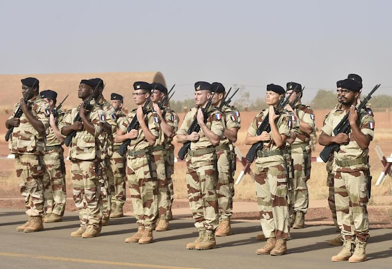 An air protection detachment from the French Air Forces at Air Base 101 in Niamey on November 23, 2014
